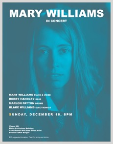 mary williams in concert piano